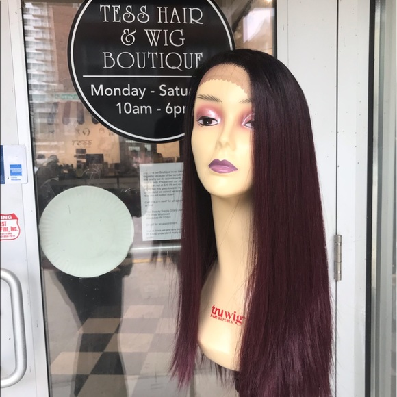 Accessories - Wig Burgundy 6X6 Freepart Swisslace Lacefront 2019
